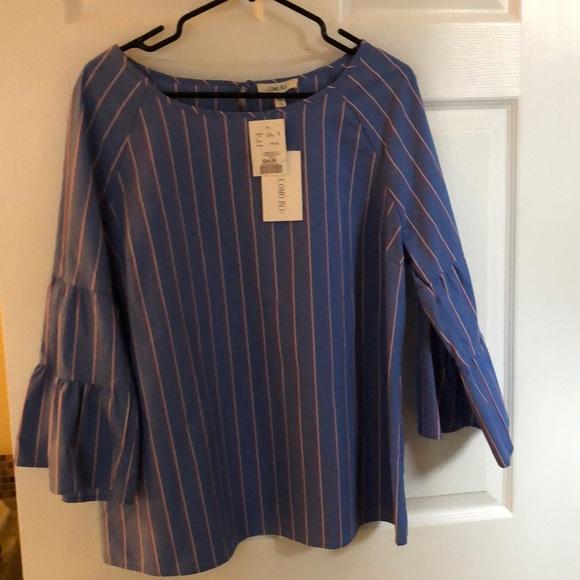 NWT Como Blu stripped blouse